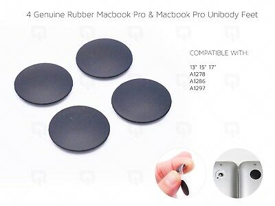 £4.99 • Buy Apple MacBook Pro Unibody REAL Rubber Feet & Strong Adhesive A1278 A1286 A1297