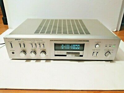 $168.22 • Buy Great Akai Am-u02 Stereo Integrated Amplifier Amp Nice Silver Working Perfectly!
