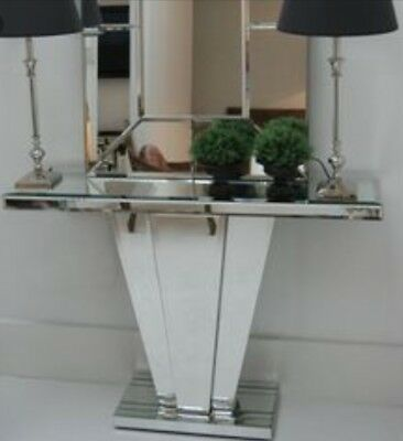 £390 • Buy Sweetpea And Willow Venetian Mirrored Art Deco Fan Console Table