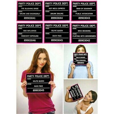 AU14.95 • Buy Photo Booth Props Mug Shots Wedding Hens Night Bachelorette Party Funny Signs