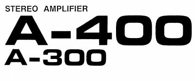 £15.99 • Buy Pioneer A-300 A-400 Stereo Amplifier Service Manual Book Inc Schems In English