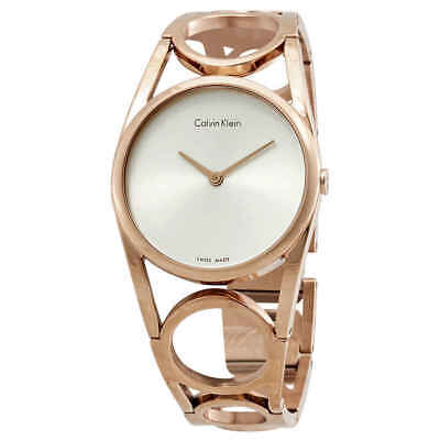 £44.40 • Buy Calvin Klein Round Silver Dial Ladies Watch K5U2M646