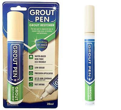 Grout Pen Large Cream - Ideal To Restore The Look Of Tile Lines   • 11.19£