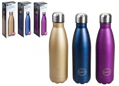 $14.34 • Buy B&Co Hamelin 500ml Water Bottle Vacuum Insulated Flask Thermal Sport Chilly Cold