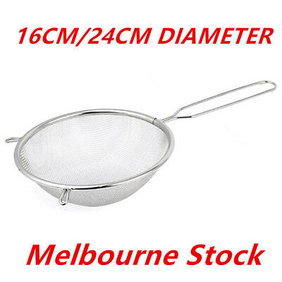 AU14.94 • Buy Stainless Steel Flour Colander Sifter Oil Sieve Strainer Kitchen Tools Melbourne