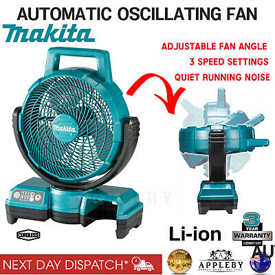 AU182.10 • Buy Makita Cordless 18V Portable Fan With 240V Power Adapter 3 Speed LXT Tool Skin
