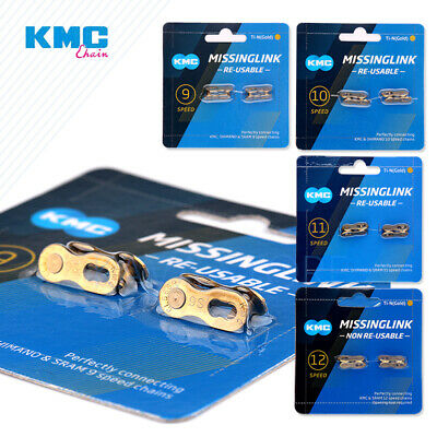 AU14.79 • Buy 2 Pairs KMC Bicycle Chain Missing Link 6/7/8/9/10/11/12 Speed Chain Magic