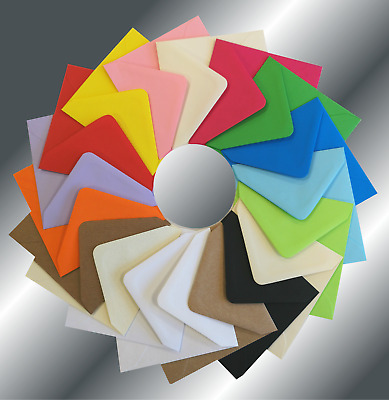 £2.10 • Buy 6  Square Coloured Envelopes 155x155mm Crafts Greeting Cards & Party Invitations