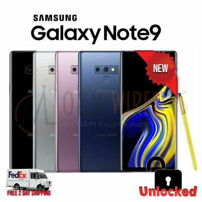 $ CDN548.62 • Buy NEW Samsung Galaxy NOTE 9 128GB 512GB 🟣⚫⚪🔵(SM-N960U1 Factory Unlocked)