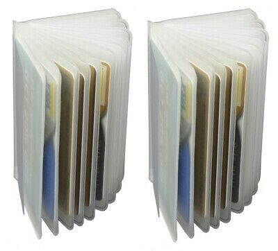 $6.98 • Buy WALLET INSERT SET OF 2 Clear & Plastic 12 PAGES CARD PICTURE HOLDER TRIFOLD NEW
