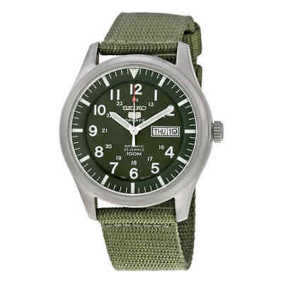 $ CDN158.97 • Buy Seiko 5 Sport Automatic Khaki Green Canvas Men's Watch SNZG09
