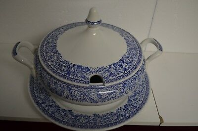 $ CDN94.08 • Buy Tureen Diamondstone Laveno VTG 3 Pc.LG Soup Since 1856 Made In Italy Blue /white