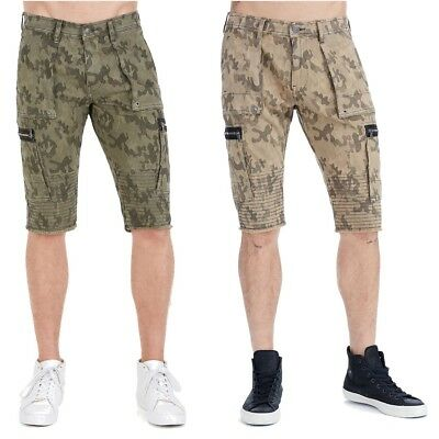 True Religion Men's Moto Cargo Camo Shorts • 53.37£