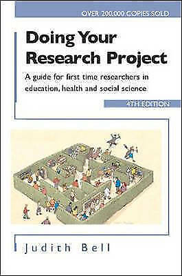 £3.40 • Buy Doing Your Research Project: A Guide For First-Time Researchers In Education,...