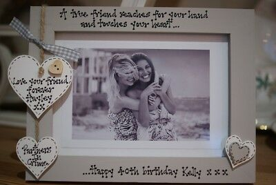£14.95 • Buy Personalised Photo Frame! Friends 30th 40th 50th 60th Birthday Gift! 7x5''!
