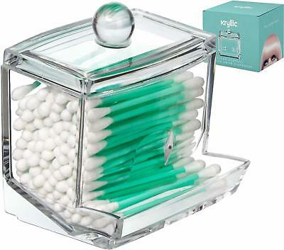 $ CDN15.38 • Buy Acrylic Cotton Swabs Q-Tip Cottonswab Storage Dispenser Designed To Smoothly For