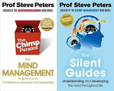 The Chimp Paradox & The Silent Guides By Steve Peters (2 Books Set) • 18.49£