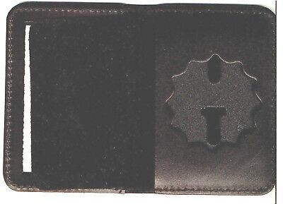 £14.49 • Buy NY/NJ-Police-Style-Lieutenant Cut-Out Shield/ID Book Wallet (Badge Not Included)
