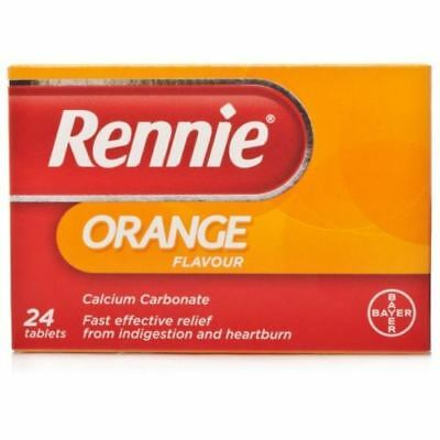 Rennie Orange 24 / 48 Chewable For Indigestion Heartburn Antacid | UK PHARMACY   • 4.39£