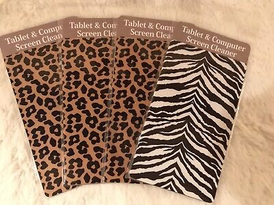 $9.98 • Buy New Lot Of 4 Tablet & Computer Screen Cleaners, Animal Print, Self Adheres