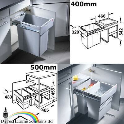 Hailo Easy Cargo Kitchen Pull Out Waste Bins For Minimum 400-500mm Cabinet Width • 165.49£
