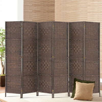 AU198.95 • Buy 6 Panel Privacy Screen Room Divider Wood Foldable Stand Folding Partition Brown