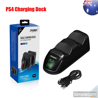 AU23.95 • Buy DOBE Dual Controllers Charging Dock Charger Station Gamepad Stand For PS4
