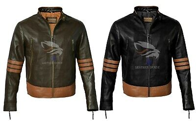 X-Men Wolverine Origins Bomber Style Brown Real Leather Jacket Size XS To 3XL • 69.99£