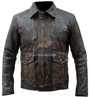 £71.99 • Buy Indiana Jones Harrison Ford Classic Genuine Real Distressed Leather Jacket