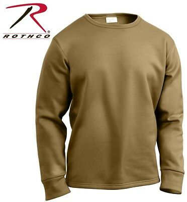 $25.99 • Buy Coyote Crew Neck Top Military ECWCS Cold Weather Thermal Top H.W. Rothco 3851