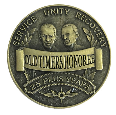 $5.75 • Buy Alcoholics Anonymous Old Timers Honoree Bronze AA Recovery Coin Medallion Token