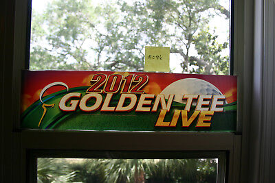 $20.95 • Buy 2012 Golden Tee Live USED Arcade Marquee -FAIR CONDITION #046