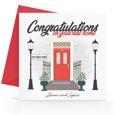 Personalised New Home Card Moving House - Any Street Name, Number, Names • 3.45£