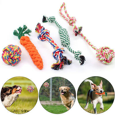 5X Dog Rope Toys Tough Strong Chew Knot Knotted Pet Puppy Healthy Teeth Bear • 8.29£