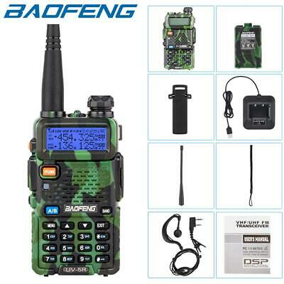 Baofeng UV-5R VHF/UHF Dual Band Walkie Talkie Handheld USB Two Way Ham Radio UK • 19.95£