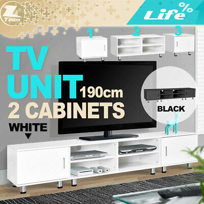 AU189.95 • Buy TV Stand Entertainment Side Cabinet Unit Storage Drawers 190cm