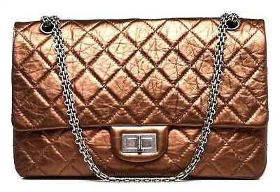 34b485c6a44 CHANEL 2.55 Reissue Quilted Calfskin Leather Classic 227 Jumbo Flap  Shoulder Bag • 4
