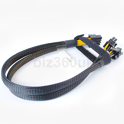 $ CDN16.99 • Buy New 8pin To 6+6pin Power Cable For DELL R730 And NVIDIA Quadro K6000 GPU 35cm