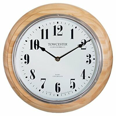 £86.66 • Buy Acctim Radio Controlled Round Wooden Pine Wall Clock With Clear Full Figure