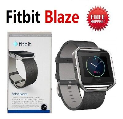 $ CDN123.69 • Buy Fitbit Blaze FB502 Smart Fitness Watch Activity Tracker Black Leather Band Small