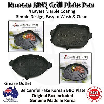 AU45.95 • Buy Portable Korean BBQ Grill Non Stick Marble Coating Gas Stove Stovetop Pan Plate