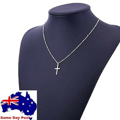 AU5.95 • Buy NEW  Cross Pendant Charm Gold Or Silver Necklace Chain Women Fashion Jewellery