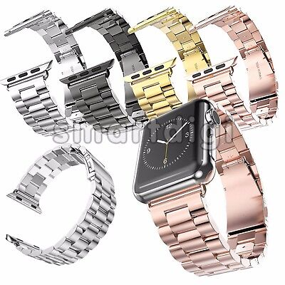 AU8.99 • Buy Stainless Steel Watch Band Bracelet Strap For Apple Watch Series1/2/3 42mm/38mm