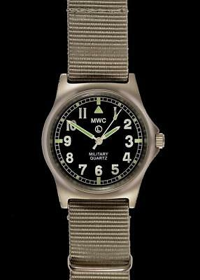 MWC G10 LM Non Date Stainless Steel Military Watch (Grey Strap) G10LM/GS/ND • 72.50£