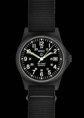 MWC G10LM 12/24 Cover Non Reflective Black PVD Military Watch G10LM1224PVD • 75£