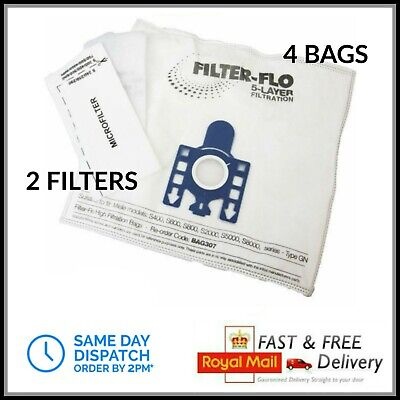 4 GN Bags For Miele Vacuum Cleaner Complete C2 C3 Cat Dog Powerline Silence • 8.99£