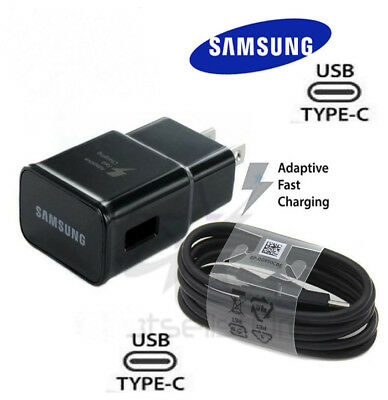 $ CDN6.84 • Buy Original Samsung Galaxy S8 S8+ S9 Note 8 9 Fast OEM Wall Charger+Type C -CABLE