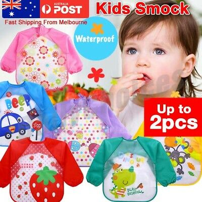 AU7.08 • Buy Children Baby Kids Toddler Waterproof Long Sleeve Art Smock Feeding Bib Apron