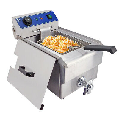 £115 • Buy Electric Deep Fryer Stainless Steel Fat Chip Commercial Single Tank 10L 3000W