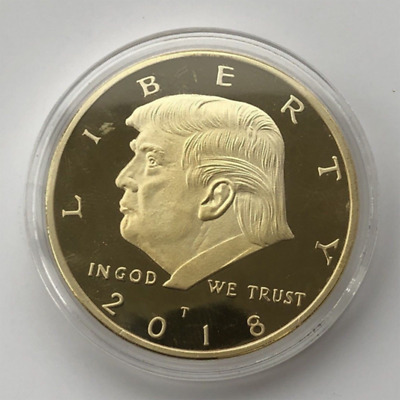 AU4.38 • Buy Hot Sale 2018 President Donald Trump 24k Gold Plated EAGLE Commemorative Coin
